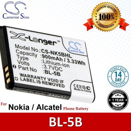 Original CS Phone Battery NK5BHL Nokia N90 XpressMusic 5200 5300 5320
