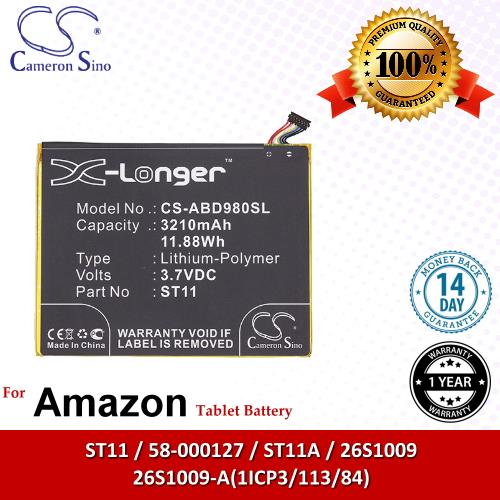 Original CS Tablet Battery ABD980SL Amazon Kindle HD 8 Battery