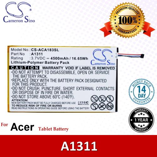 Original CS Tablet Battery ACA183SL Acer Iconia Tab 8 A1-830 Battery