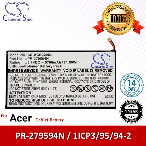 Original CS Tablet Battery ACB320SL Acer Iconia Tab 10 A3-A40 Battery