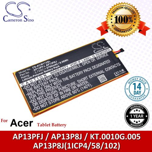 Original CS Tablet Battery ACW172SL Acer Iconia B1-720-L864 Battery
