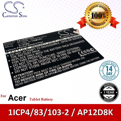Original CS Tablet Battery ACW510SL Acer Iconia W510-1892 Battery