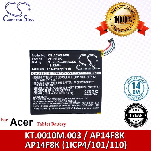 Original CS Tablet Battery ACW850SL Acer A1-860-19LU / W1-810 Battery