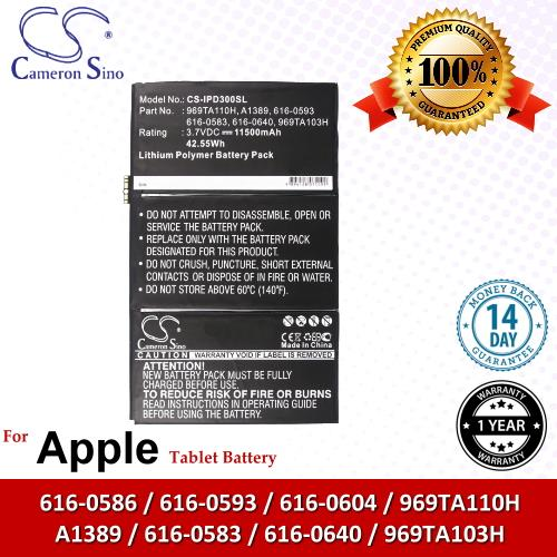 Original CS Tablet Battery IPD300SL Apple iPad 4 Battery
