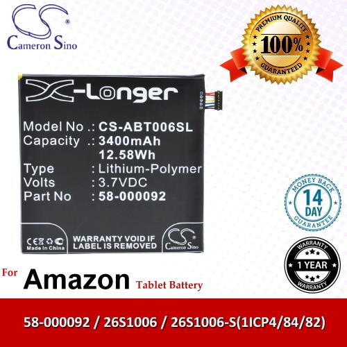 Original CS Tablet Battery Model ABT006SL Amazon 58-000092 / 26S1006