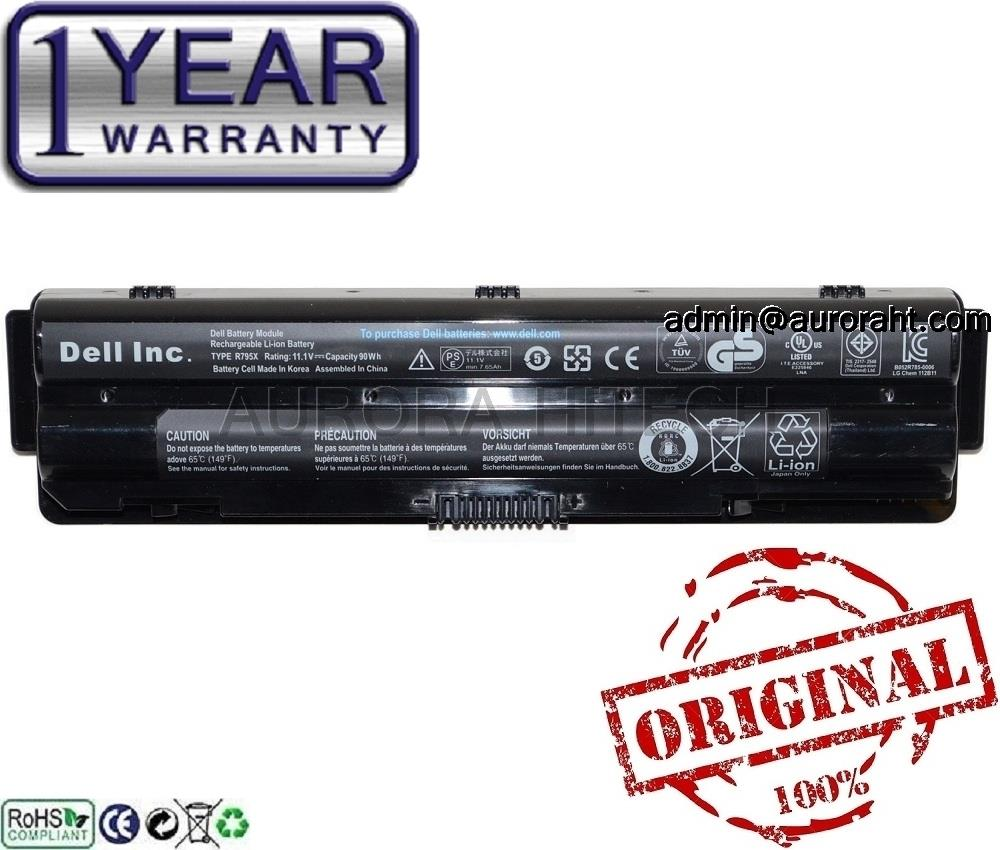 Original Dell P11F001 P12G P12G001 R4CN5 08PGNG 0J70W7 90Wh 9C Battery