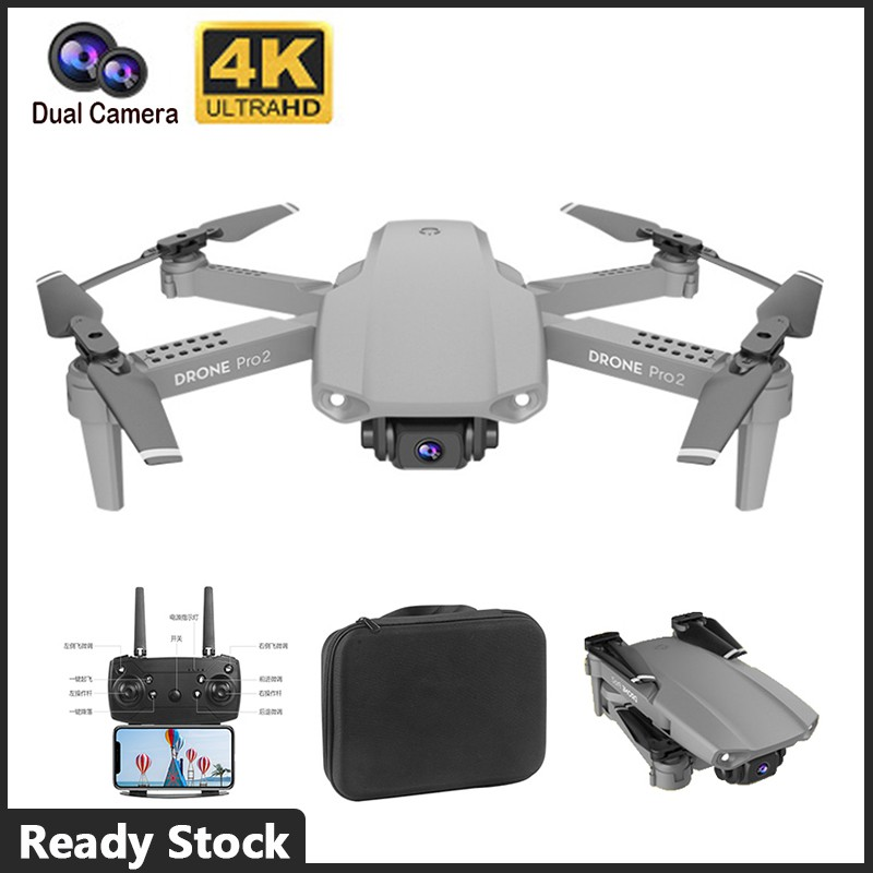 ORIGINAL E99 4K Dual Cam Rc Drone Wifi Fpv Phantom - [DRONE,1 BATTERY]