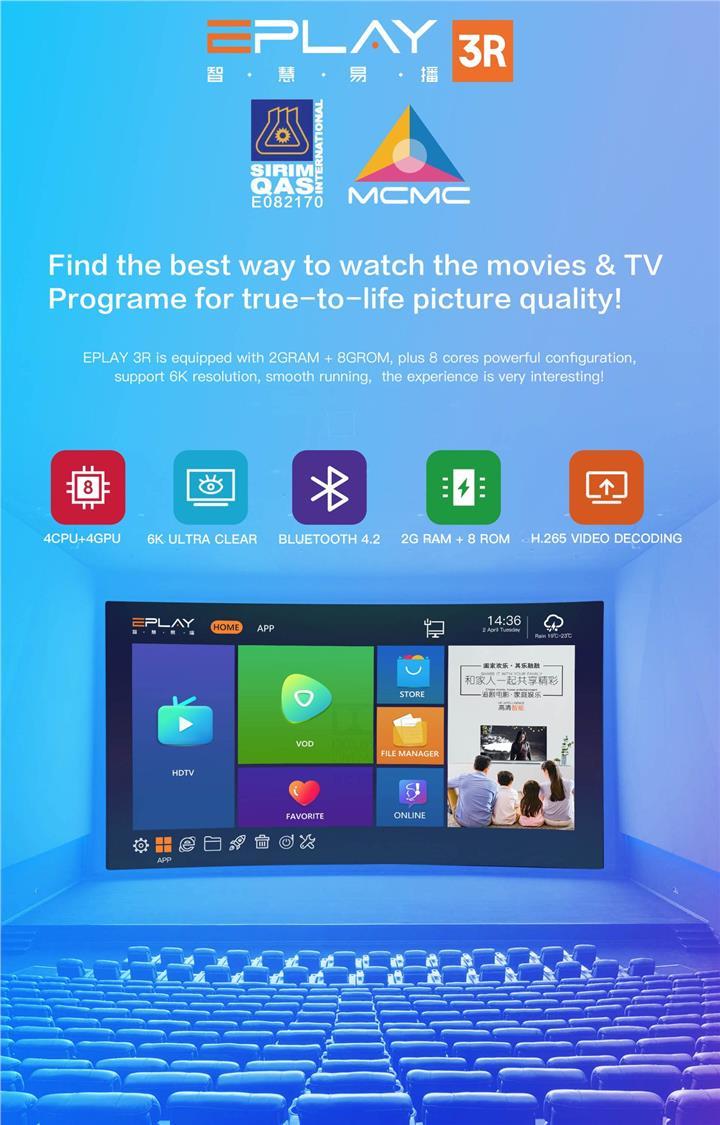 Original EPlay 6K Ultra HD 3R Bluet (end 10/21/2020 6:15 PM)
