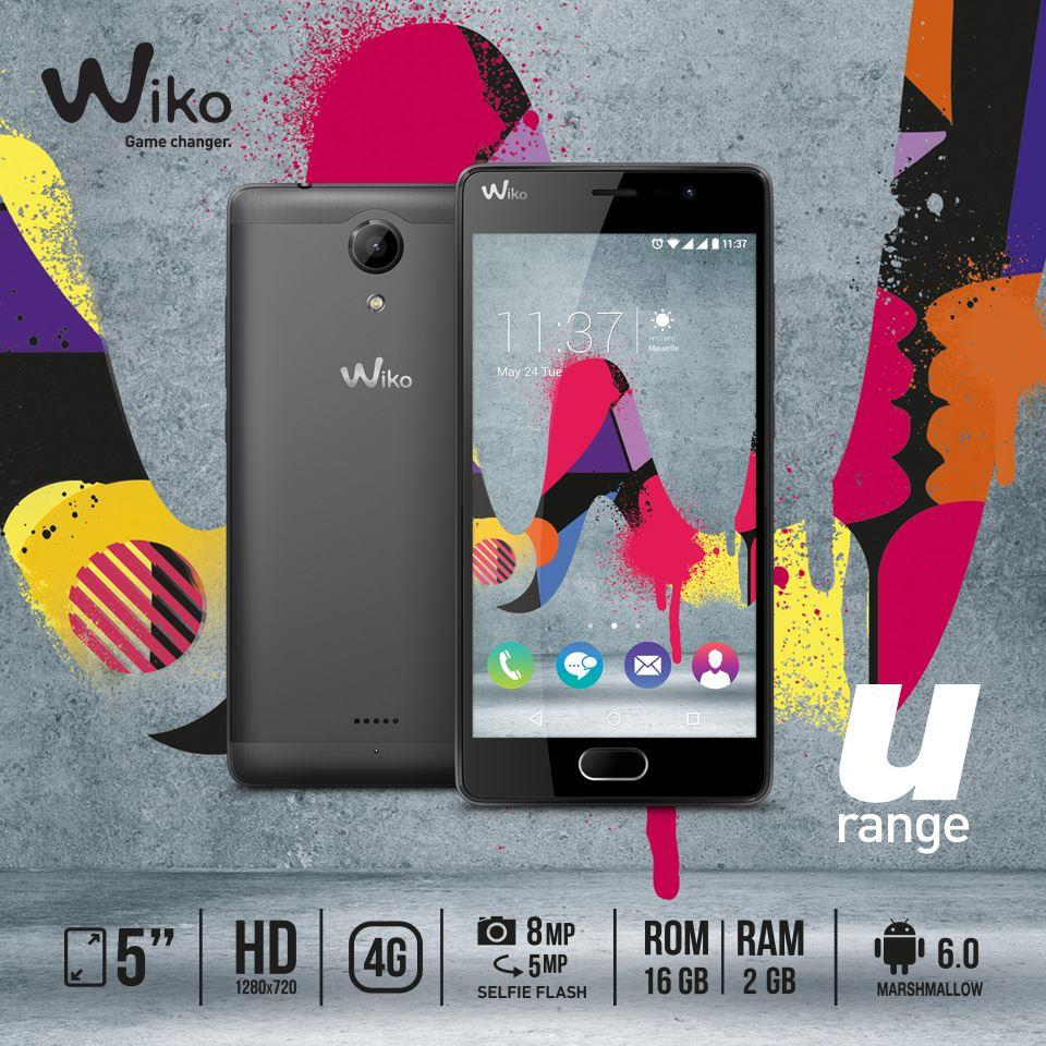 (ORIGINAL) French WIKO UFEEL Lite 2GB RAM HD FingerPrint 16GB 5.0""