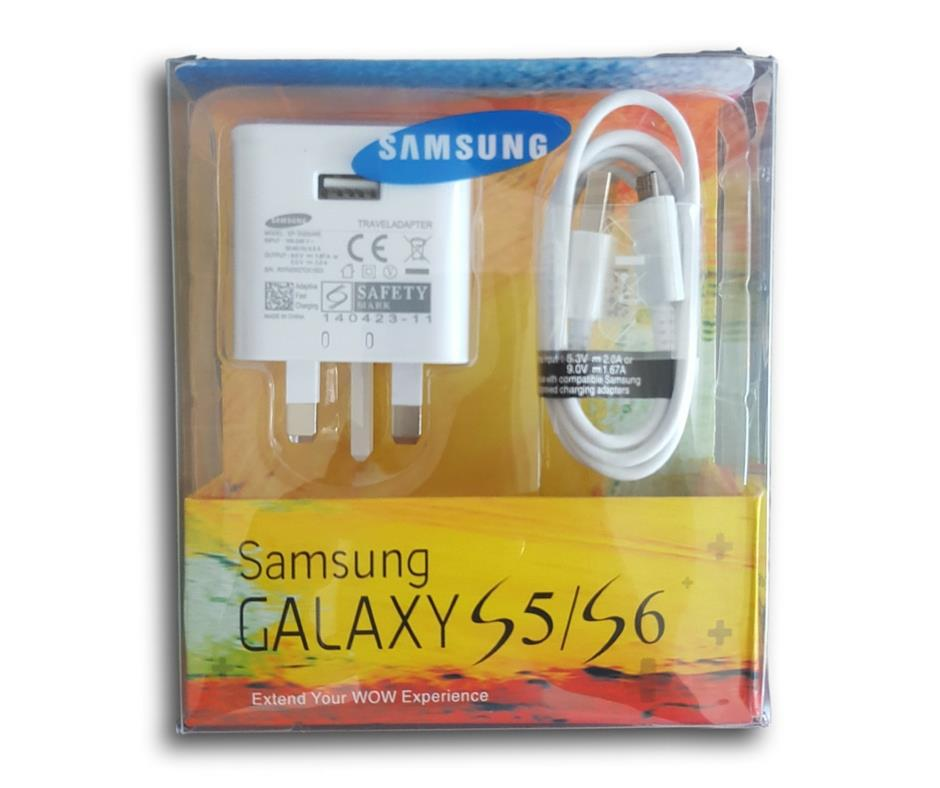 Original/Genuine Samsung 2.0A Fast Charging Charger/Adapter  and Cable