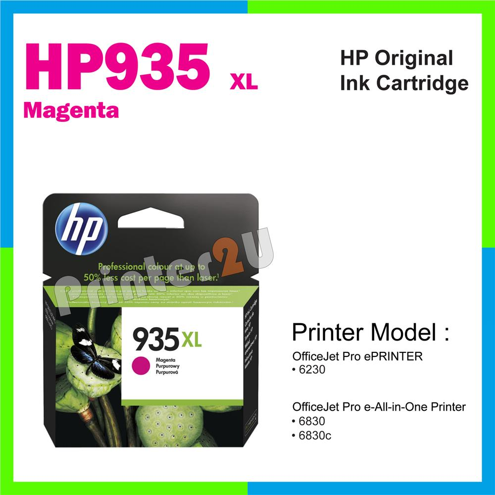 Original HP 935XL 935 XL Magenta Inkjet Ink Cartridge 6230 6830 6830C