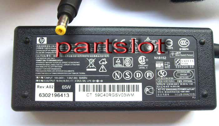 Original HP Presario V2500 V2600 V2700 V3000 18.5V 3.5A AC Adapter