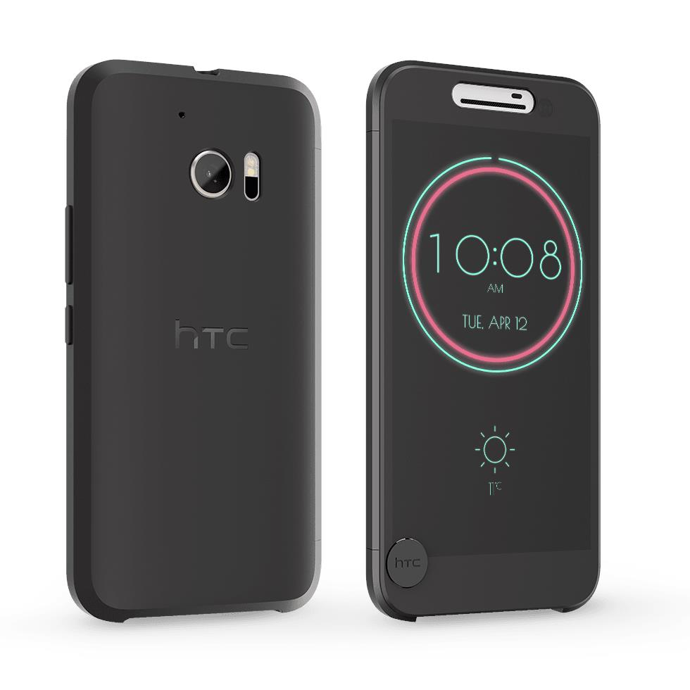 free shipping a646d 90668 ORIGINAL HTC One M10 (HTC 10) Ice View Case Flip Cover IV C100 ~BLACK