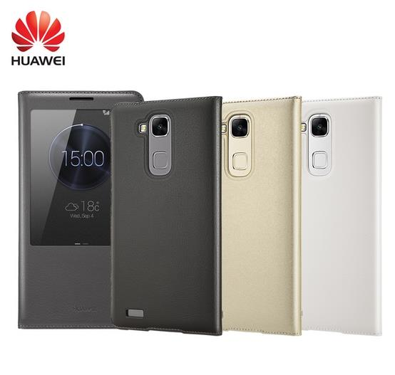 new product eef4f 77b1a Original Huawei Ascend Mate 7 Flip Case Cover + 9H Tempered Glass