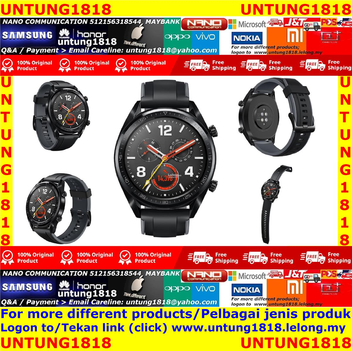 ORIGINAL.HUAWEI B19S WATCH GT (BLACK)
