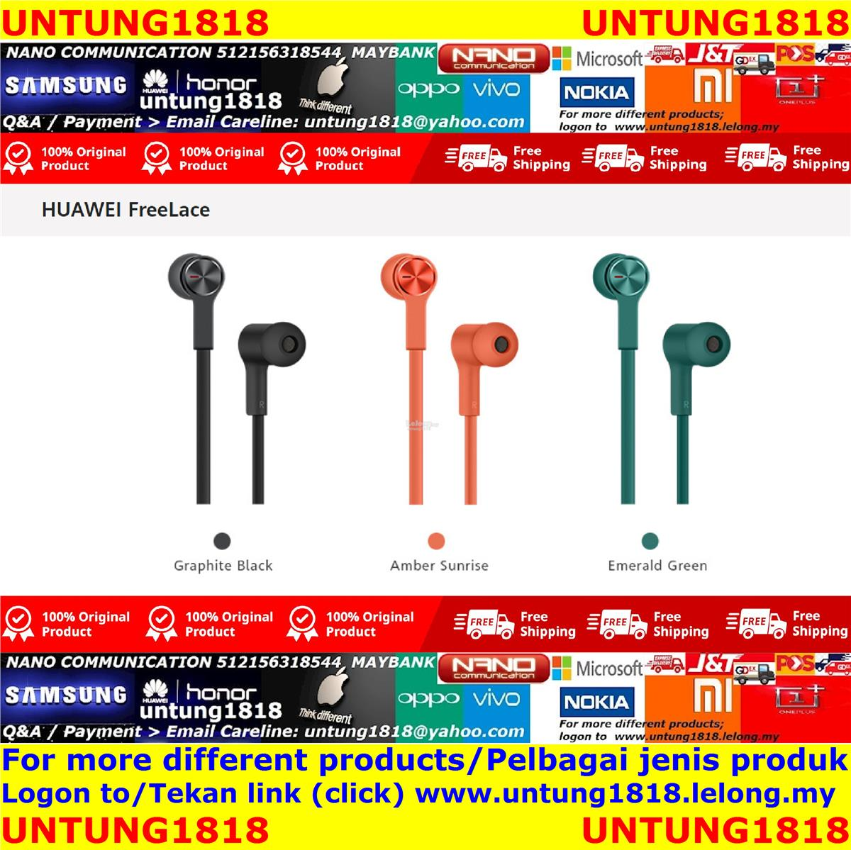 ORIGINAL.HUAWEI FreeLace Earphone In ear / Wireless / Bluetooth