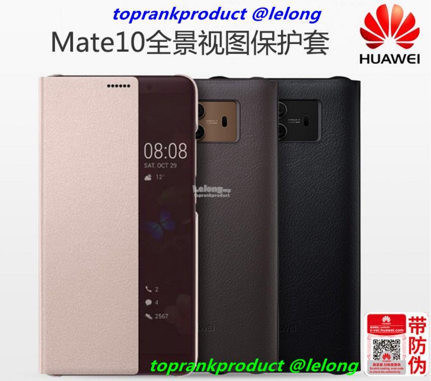 premium selection a544c 7ee8b Original Huawei Mate 10 Mate10 Flip Smart Leather Case Cover Casing