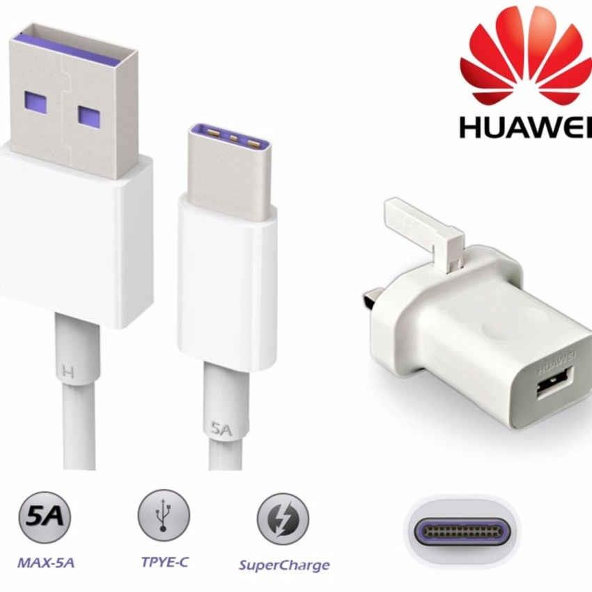 Original Huawei SuperCharge Adapter with Type-C Date Cable