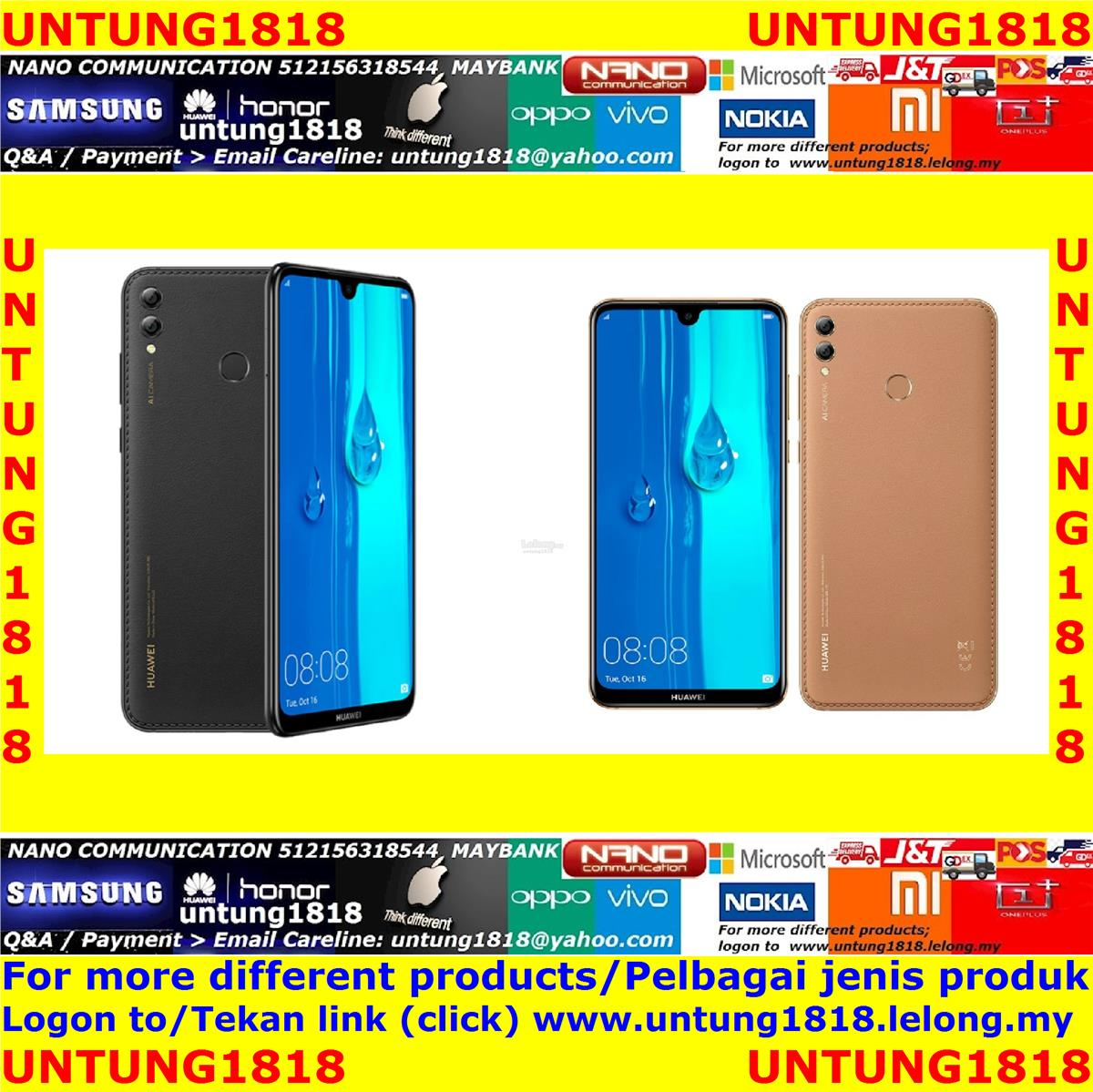 ORIGINAL.Huawei Y Max Y9 Y9 Prime Huawei Y7 Pro Huawei Y5 (2019)