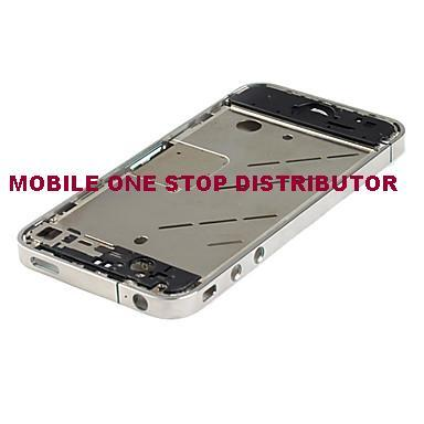 ORIGINAL IPhone 4 Silver Chrome Bezel Frame Housing / Repair