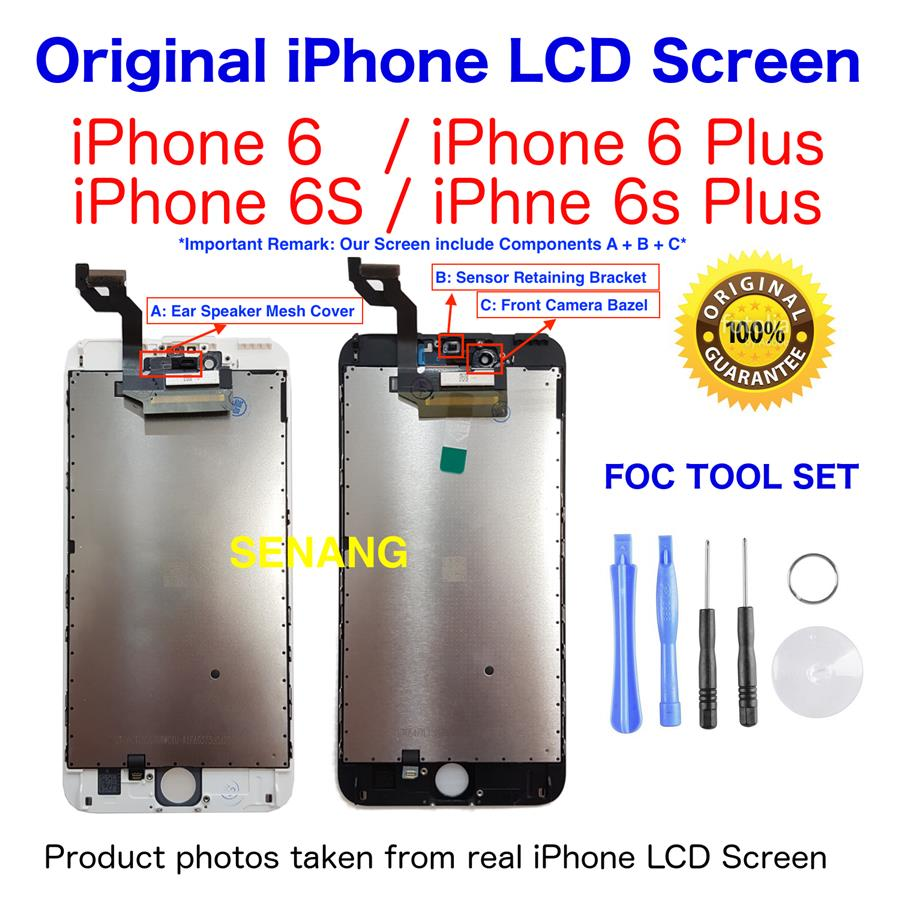 huge selection of 01eab 6544d ORIGINAL iPhone LCD Screen for iPhone 6 6 Plus 6s 6S Plus with Tool