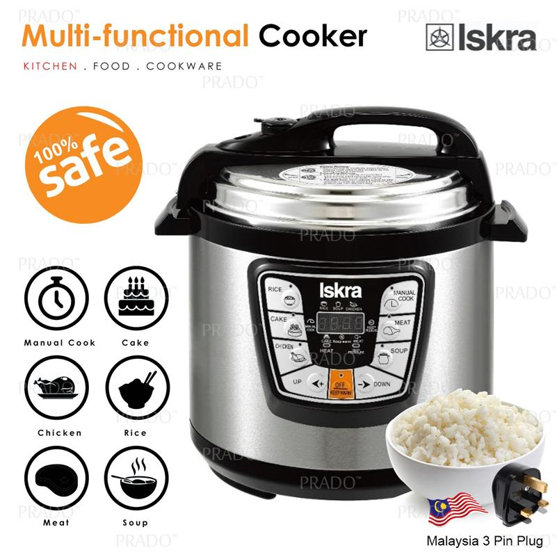ORIGINAL ISKRA 6L Electric Pressure Cooker 6 Program Timer 1200W MSIA