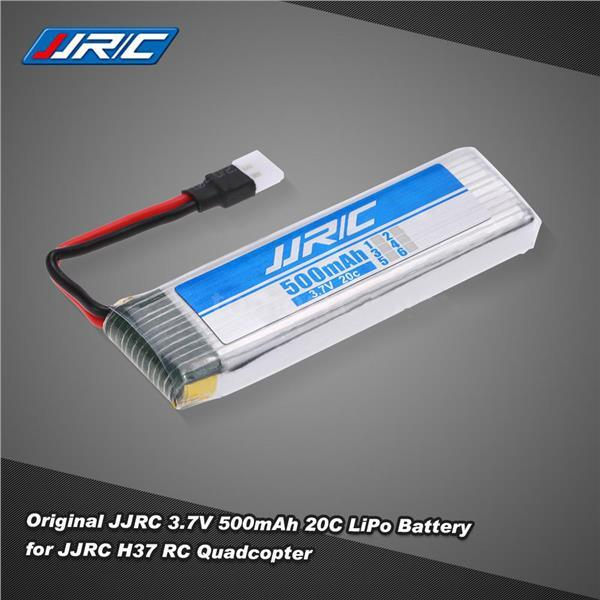 Original JJRC 3.7V 500mAh 20C LiPo Battery for JJRC H37 Selfie Drone