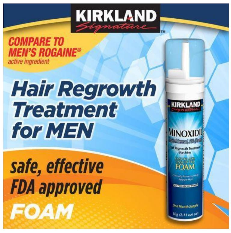 Original Kirkland Foam 5% Hairloss 1 month - Botak, Hair Regrow -