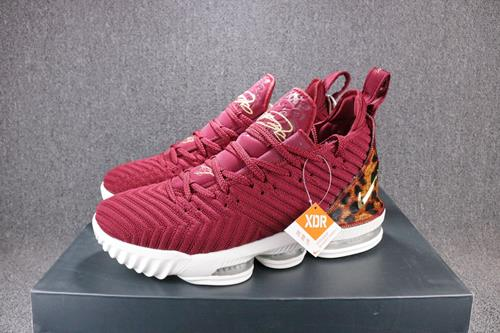 outlet store 13e46 c2a26 Original Lebron James 16 LBJ16King Wine Red Panther Print Silk Air