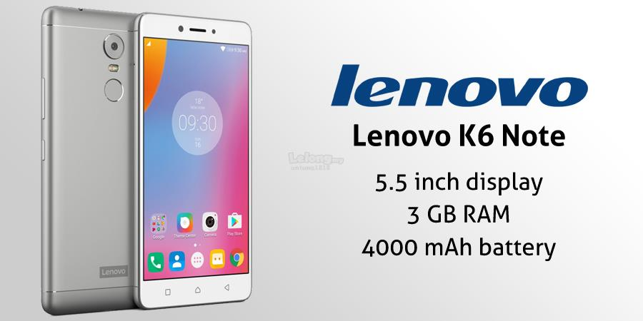 (ORIGINAL) LENOVO WARRANTY Lenovo K6 Note 4GB RAM 32GB