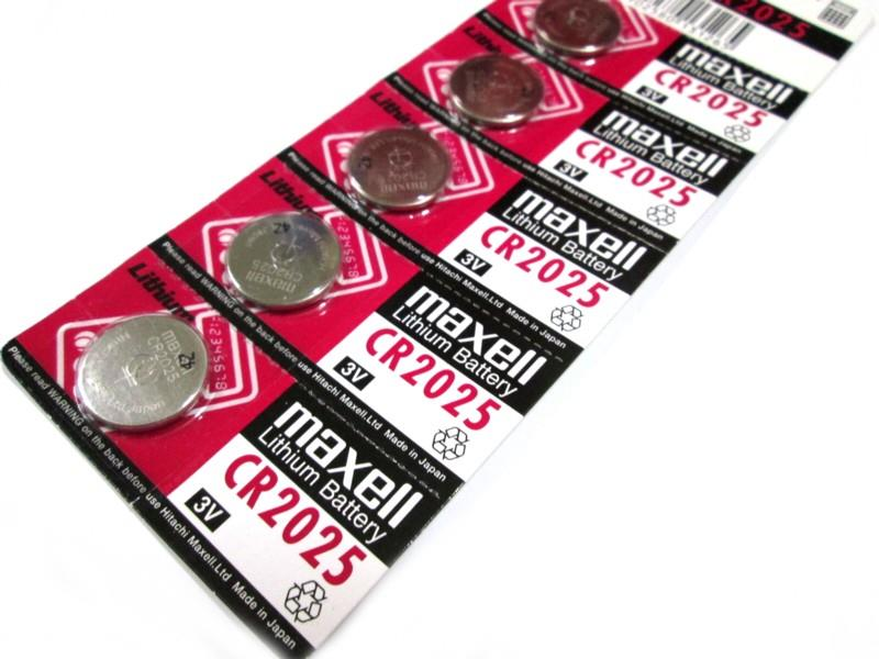 *Original Maxell ^CR2025 Lithium Button Cell Battery (1 Pack 5pcs)