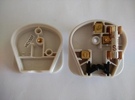 Original MK 654 13A Fused 3 pin Plug Top White SIRIM Approved 250V