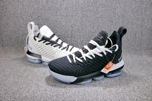 info for ade3d c9068 Original Nike LeBron James 16 Black White Basketball Shoes