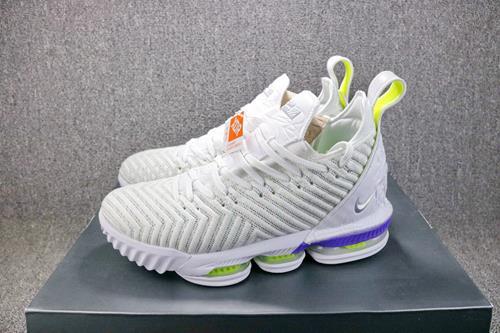 size 40 3ed11 3c720 Original Nike LeBron James 16 Shoes Buss Lightyear Basketball Shoe
