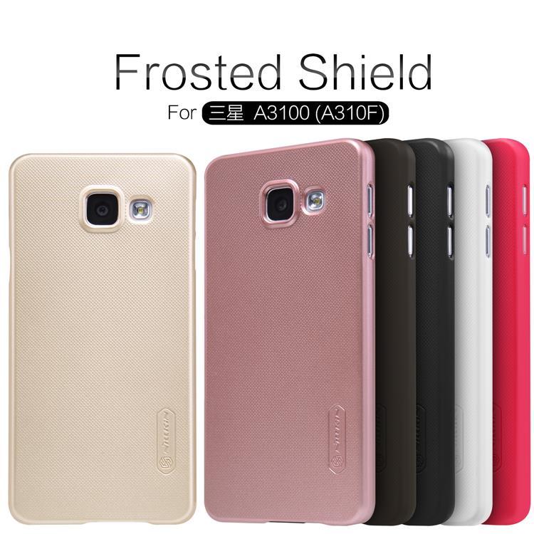 release date f0033 772b2 ORIGINAL Nillkin Frosted Shield case Samsung Galaxy A3 (2016) /A310F