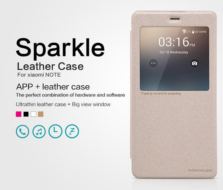 ORIGINAL Nillkin Sparkle Leather case Flip Cover Xiaomi Mi Note (5.7)