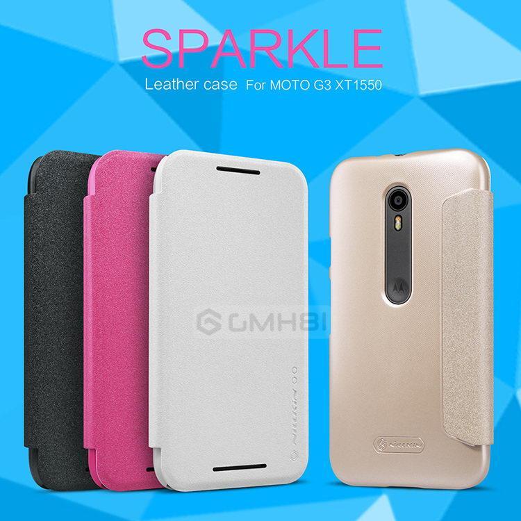 the best attitude 59889 b84f1 Original Nillkin SPARKLE Smart Cover Flip Case Motorola Moto G3 G2015