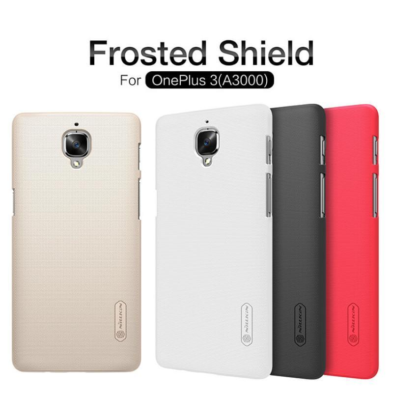 ORIGINAL Nillkin Super Frosted Shield Matte cover case Oneplus 3 & 3T