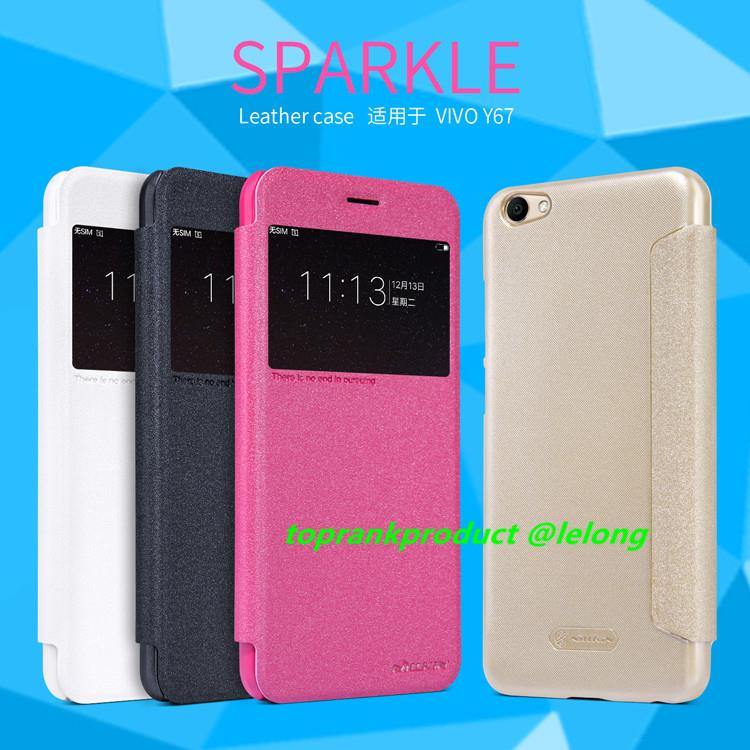 Original Nillkin ViVO V5 V5S Flip Sparkle Leather Case Cover Casing