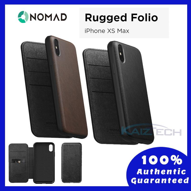 Original Nomad Rugged Case for iPhone Xs Max - Horween Leather from USA (BLACK