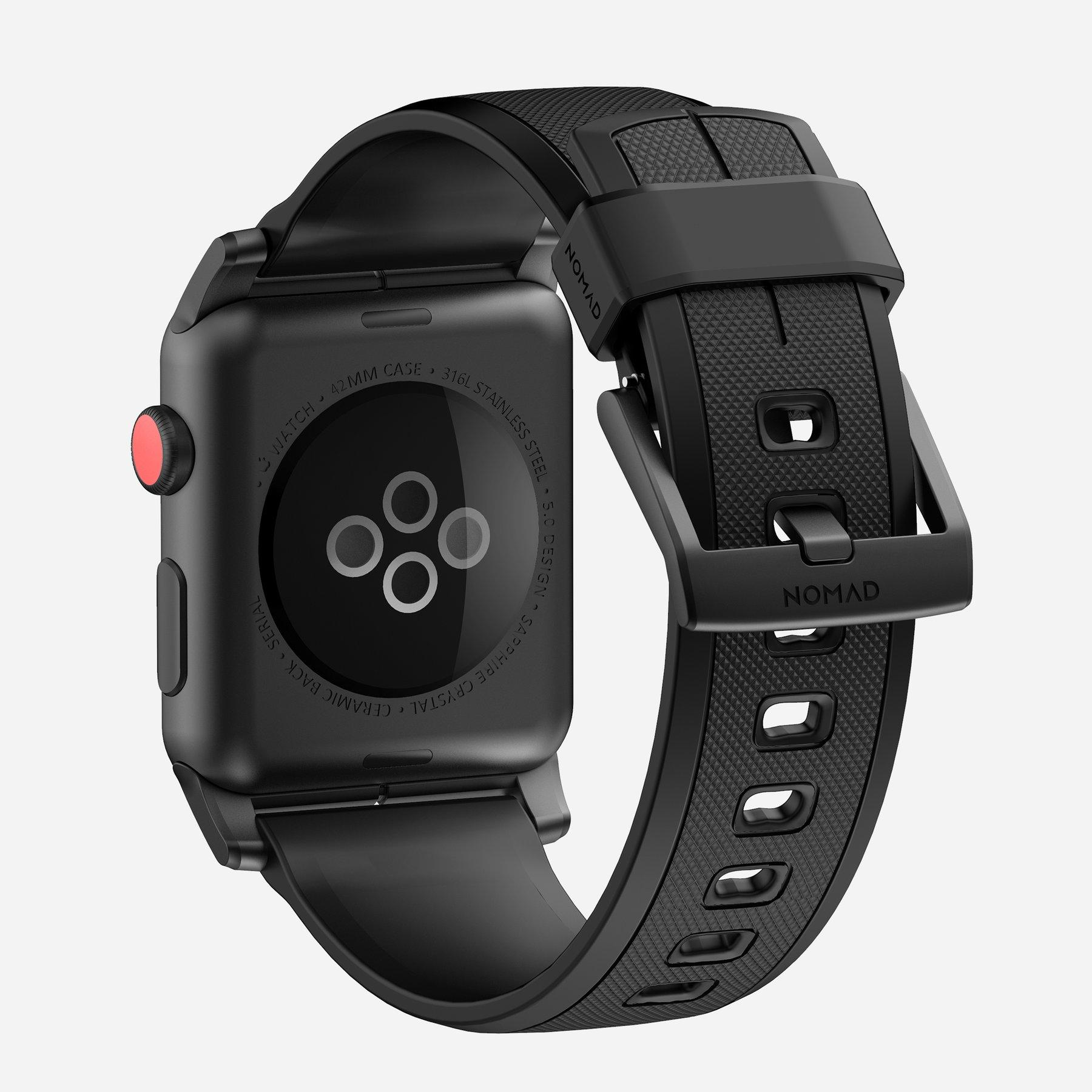 Original Nomad Rugged Strap 42mm/44mm (Apple Watch Series 2/3/4) - Black