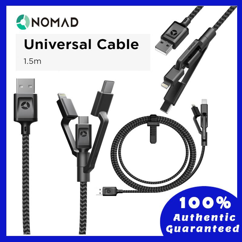 Original Nomad Ultra Rugged-Universal Cable 1.5m 5ft - Lightning, Type C