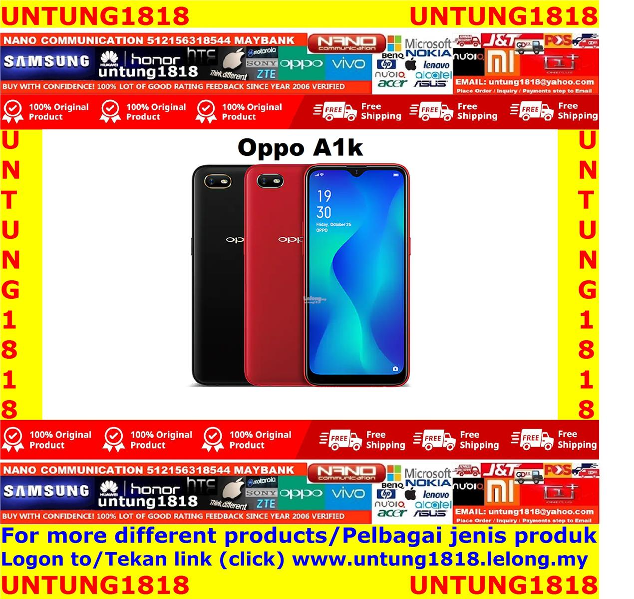 ORIGINAL.Oppo A1k More Choice