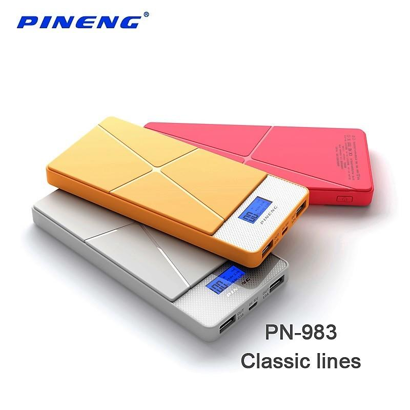[ORIGINAL] PINENG PN-983 Power Bank Dual Port 2.1A Ultra Slim 10000mAh