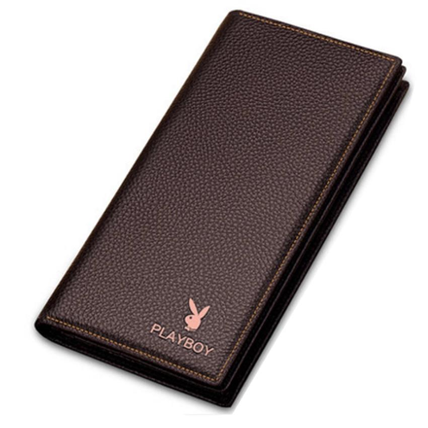 Original Playboy Men Leather Wallet High Quality Free Gift Box