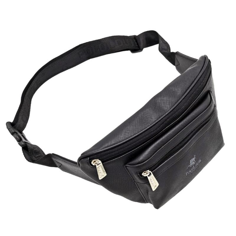 Original Polo Louie Men Leather Premium Waist Bag Chest Bag Pouch