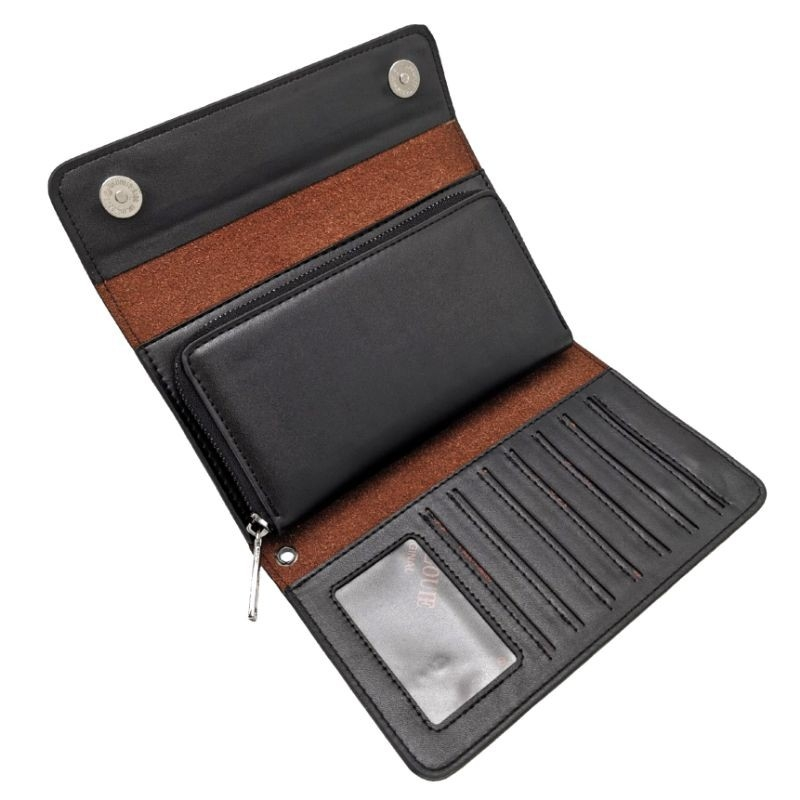 Original Polo Louie Men Stylish Leather Long Clutch Wallet Handcarry