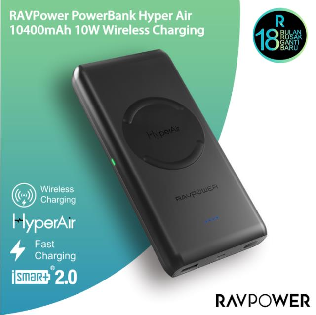 (Original) Ravpower 10400mAh Wireless Power Bank Portable Charger RP-PB080  Mob