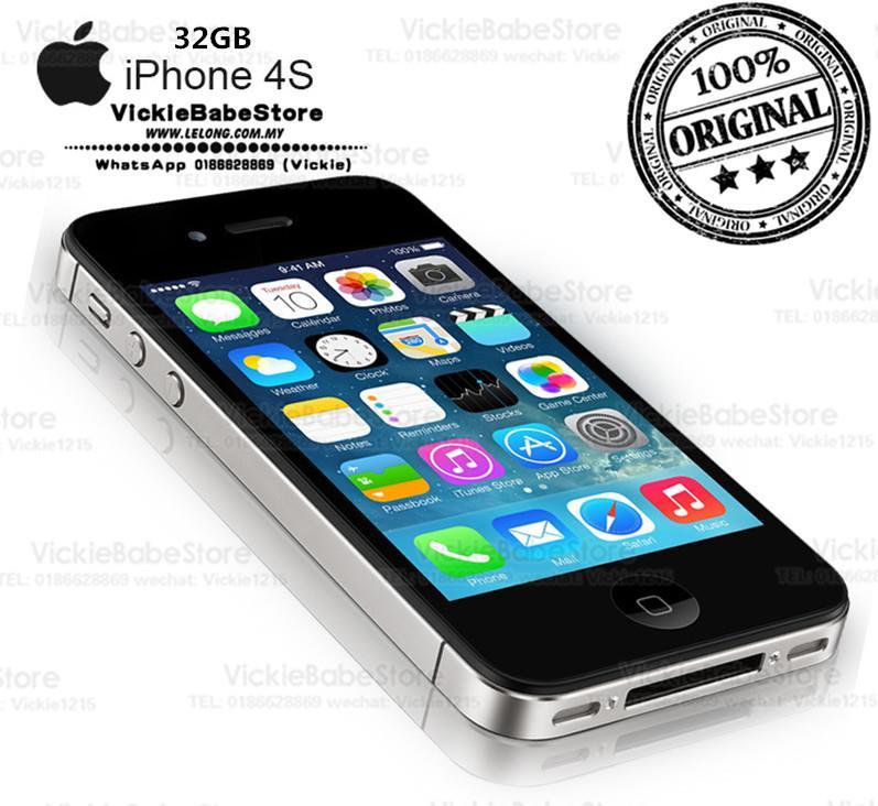 Original Refurbished Apple IPhone 4S 32GB New Full Set Sealed Box