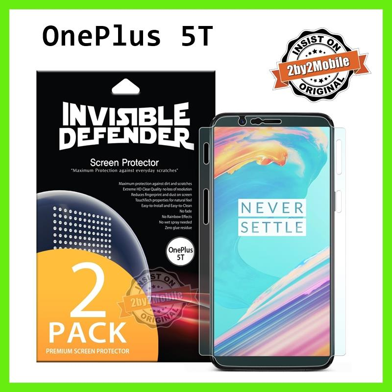 Original Ringke ID full coverage OnePlus 5T Screen Protector Twin Pack